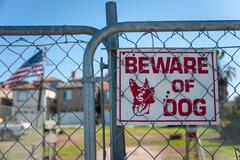 Guard dog sign - stock photo