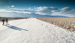 Death valley salt flats Stock Photos