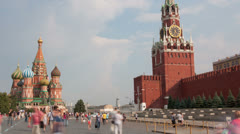 Red Square hyperlapse Stock Footage