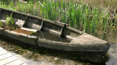 Old Fishing Boat Wreck - Mecklenburg, Northern Germany Stock Footage