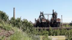 Landschaftspark Duisburg Nord - stock footage