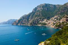 Positano amalfi coast italy Stock Photos