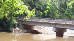 Bridge Through Creek Stock Footage