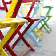 Color Chairs - stock photo