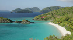 Trunk Bay, St John, USVI (pan left) - stock footage