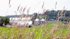 Farm Through Grass Stock Footage