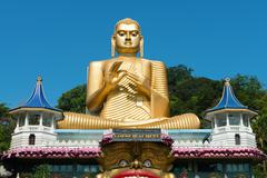 golden temple of dambulla, sri lanka - stock photo