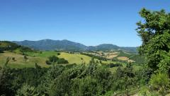 Apennine mountains, pan Stock Footage