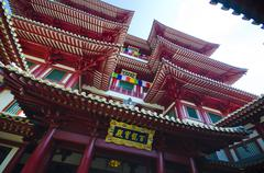 buddha tooth relic temple in china town ,  singapore - stock photo