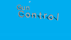 Gun Control Animation Stock Footage