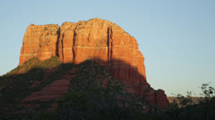 Courthouse Butte at sunset, Sedona, Arizona - stock footage