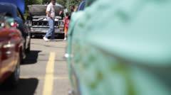 Cadillac Flames Rack Focus Stock Footage