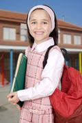 Little student girl Stock Photos
