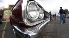 Stock Video Footage of Classic Chevy Headlights and Grill