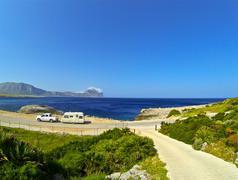 Caravan Travels - stock photo