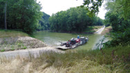 Stock Video Footage of Mammoth Cave National Park Ferry Crossing 2 HD