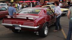 Classic Pontiac Rear View Stock Footage