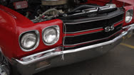 Stock Video Footage of Muscle Car Walkby