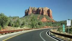 Driving Sedona red rock country time lapse - stock footage