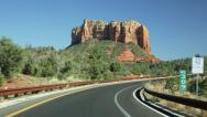 Driving Sedona red rock country time lapse Stock Footage