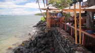 Stock Video Footage of Waterfront Dining in Lahaina