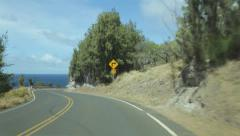 Driving West Maui north coast Stock Footage