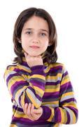 Adorable girl thinking Stock Photos