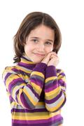 Portrait of adorable girl Stock Photos