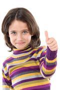 Stock Photo of adorable girl saying ok