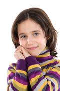 portrait of adorable girl - stock photo