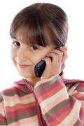 Girl talking on the cellphone Stock Photos