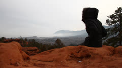 Fog At Garden of The Gods Stock Footage
