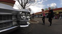 Classic Caddy Headlight - stock footage