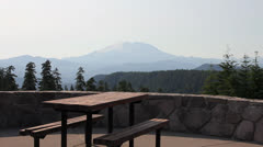 Mount St. Helens in Skamania County from McClellan Viewpoint Stock Footage
