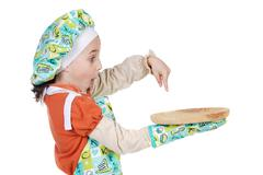 Adorable future cook Stock Photos