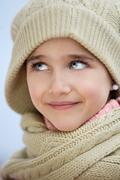 Face of an adorable girl Stock Photos