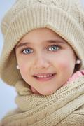 precious face of an adorable girl - stock photo