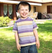 fantastic picture of laughing kid - stock photo