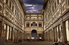 Stock Photo of uffizi gallery. night shot