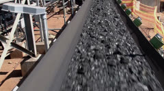 Stock Video Footage of Transporting Coal on Conveyor PAL