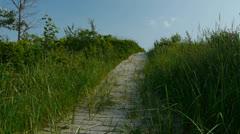 Beach Path Stock Footage