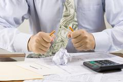 Frustrated accountant Stock Photos