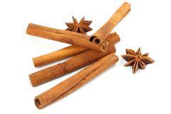 cinnamon sticks and anise - stock photo