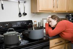 kitchen frustrations - stock photo