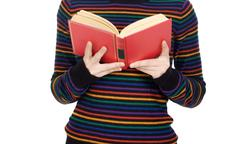attractive girl reading - stock photo