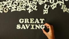 Great Savings Stock Footage