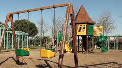 Childrens playground no people Stock Footage