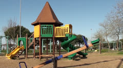 Childrens playground no people 2 Stock Footage