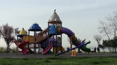 Outdoor playset Stock Footage
