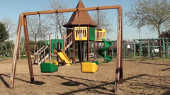 Peopleless childrens playground 2 Stock Footage